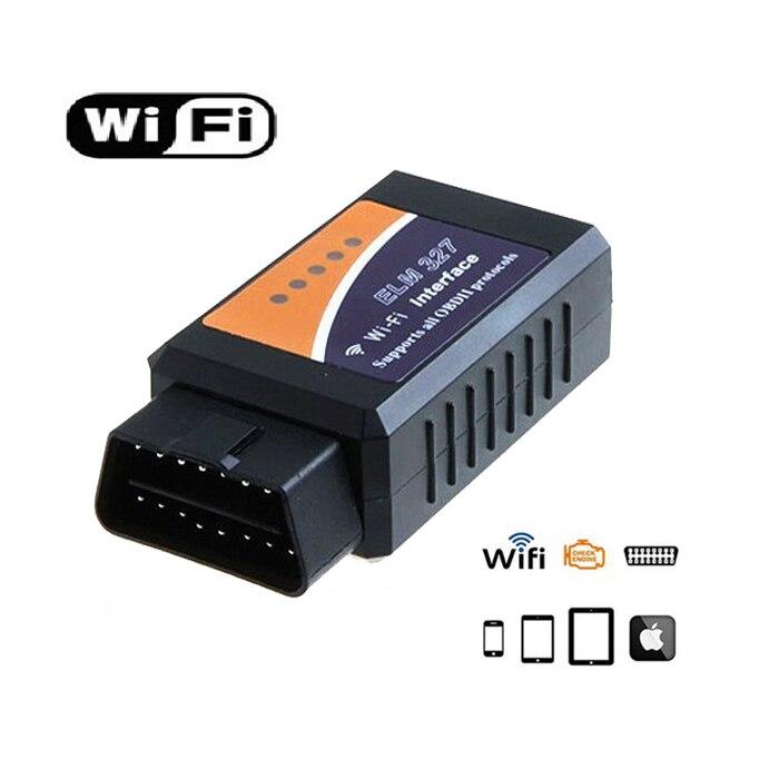 ELM327 WIFI V1.5 Версия автоматический OBD2 Авто диагностический инструмент OBDII сканер ELM 327 Wi-Fi беспроводной для автомобилей грузовиков