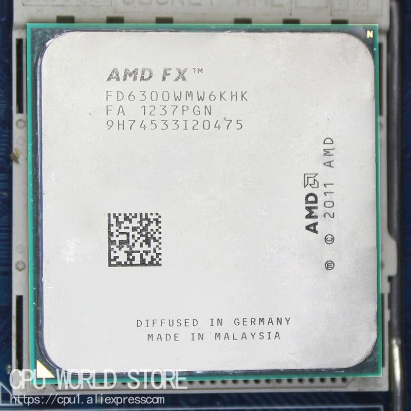AMD FX 6300 AM3 + 3,5 GHz/8 MB/95 W FX Piezas de serie FX-6300 procesador de CPU de seis núcleos que funcionan 100%