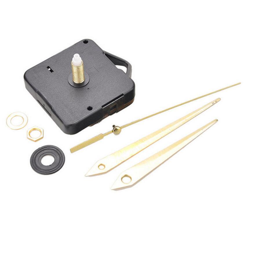 Reloj de pared de cuarzo mecanismo de movimiento DIY pieza de reparación Set 22mm husillo manos largas