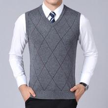 2020 nouvelle marque de mode chandail pour hommes pull gilet coupe mince pulls tricots Plaid automne Style coréen décontracté hommes vêtements