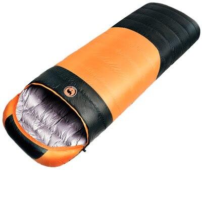 Зимний сверхлегкий спальный мешок для кемпинга в холодную погоду, портативный спальный мешок-конверт с белым утиным пухом