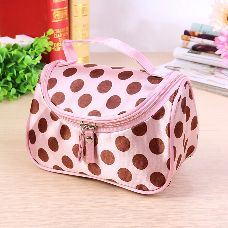 2017 New Zipper Cosmetic Bag Lady Travel Organizer Accessory Toiletry Make Up Holder Case Pouch Gift Free