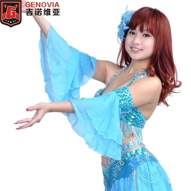 Traje de danza del vientre 2 piezas brazalete manga del brazo 12 colores
