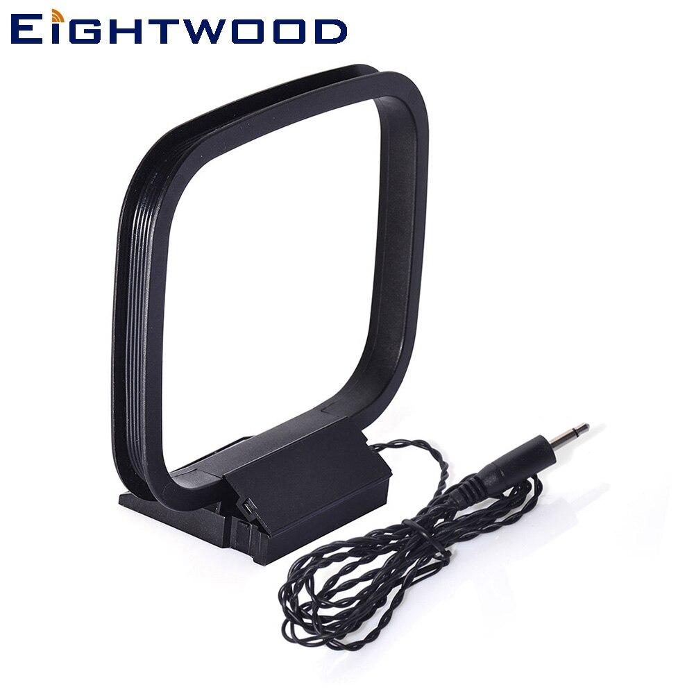 Eitwood Mini antena AM Loop antena Universal 3,5mm 2 polos conector para Radio Audio amplificador sistema receptor sistema hogar