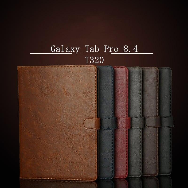 Защитный флип-чехол для SAMSUNG Galaxy Tab Pro 8,4 дюйма (SM-T320 SMT321 t325) кожаный чехол