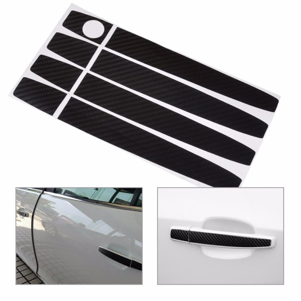 DWCX New Carbon Fiber Car Decal Door Handle Sticker For Chevrolet Cruze Malibu Captiva Spark Buick Excelle Allure Regal Verano