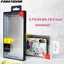200 pièces PVC boîte paquet pour iPhone 11 Pro XR XS Max 6 7 8 Samusng S20 S10 S9 S8 Plus téléphone housse de protection universel emballage de vente au détail