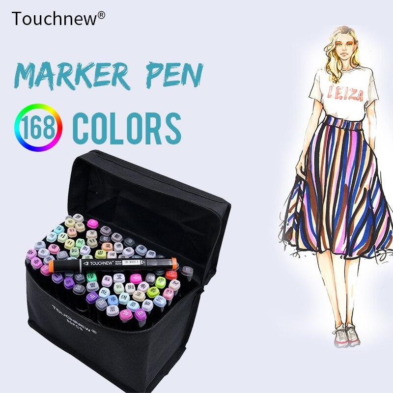 TOUCHNEW 80 rotuladores de arte profesional de Color, conjunto de rotuladores de boceto, rotuladores de pintura de doble cabeza, pluma de grafiti, suministros de Arte de dibujo