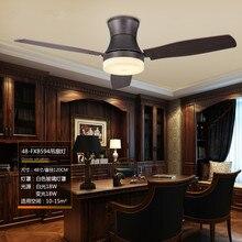 48 pouces classique salle à manger Led ventilateur de plafond lumière créative rétro étude concepteur lumière Restaurant café magasin ventilateur lumières