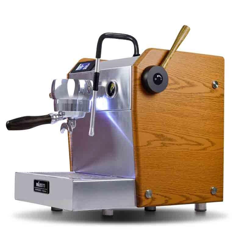 Cafetera italiana semiautomática, bomba de presión tipo bomba eléctrica, espuma de leche, máquina de espresso comercial, doble PID contral
