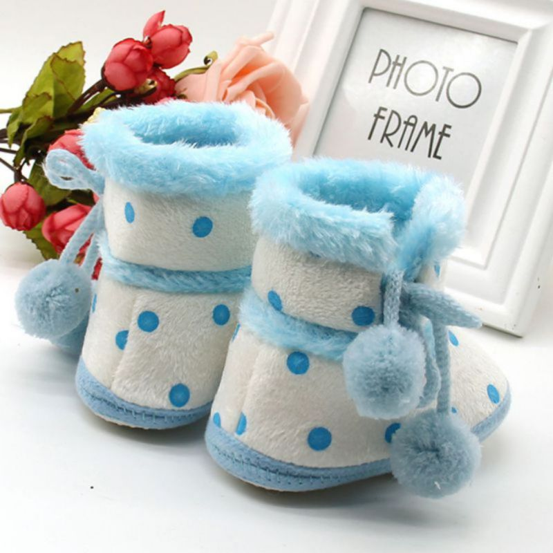 2018 модные зимние ботинки с мягкой подошвой для маленьких девочек; мокасины; теплые ботинки для малышей; нескользящие ботинки; 0-18M M2