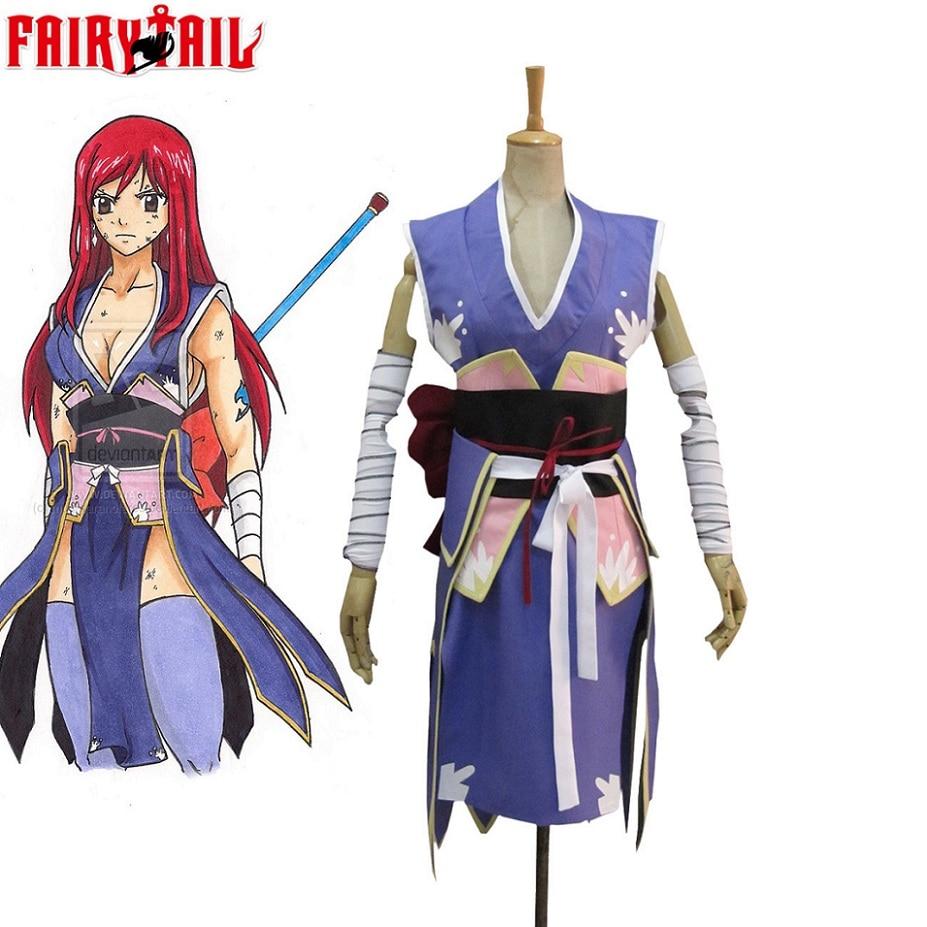 Disfraz de Cosplay de Anime Unisex de alta calidad, Cosplay de Fairy Tail, Erza, Scarlet, Forever emperatriz Armor, Kimono