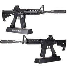 13.5 assembler métal jouet pistolet modèle ne peut pas tirer M4A1 bricolage Mini pistolet modèle pour Collection métal alliage pistolet jouets garçon cadeau