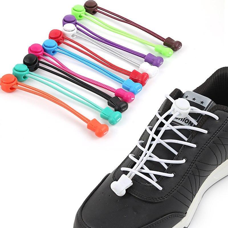 Lacet de verrouillage extensible une paire de lacets de chaussures de verrouillage lacets de baskets élastiques chaussures de course/Jogging/Triathlon 16 couleurs