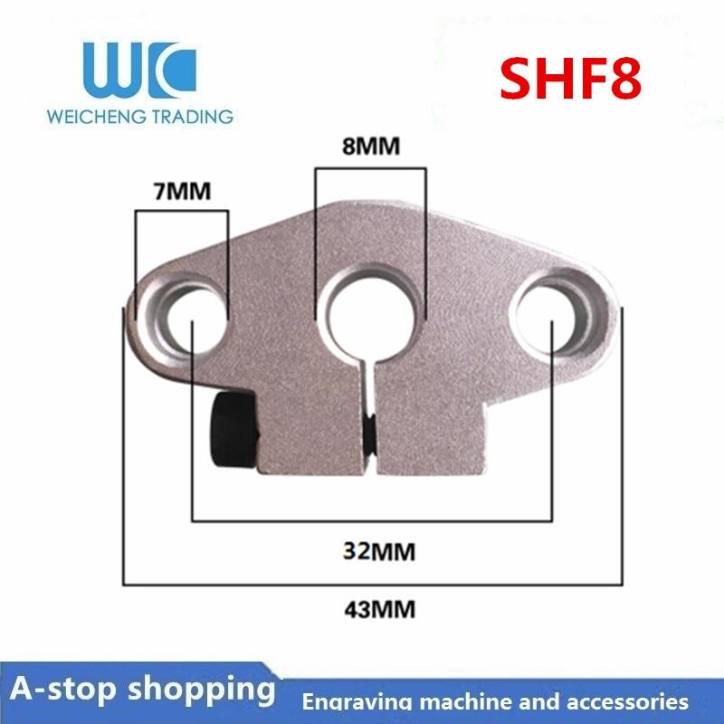 Soporte de guía de eje óptico lineal SHF8, barra de luz, soporte de diamante Horizontal, soporte de cerradura de cojinete, SHF8-50 de asiento
