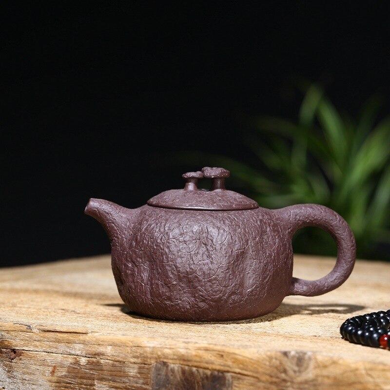 وعاء الشاي اليدوي التقليدي ، الطين الأرجواني المنحوت ، الطلاء ، إبريق الشاي ، هدية أعمال wechat بالجملة