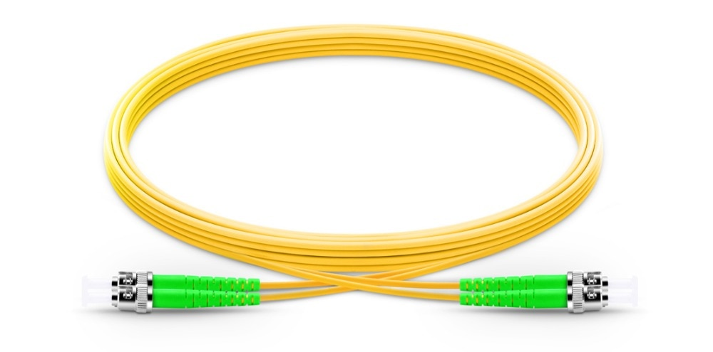 FirstFiber 1m ST APC to ST APC G657A 2 cores Duplex Fiber Patch Cable, Jumper, Patch Cord 2.0mm PVC OS2 SM Bend Insensitive