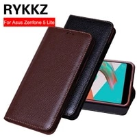 rykkz luxury leather flip cover for asua zenfone 5 lite 6inch protective case leather cover for asus zc600kl free shipping