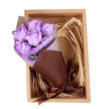 Hot romantic 7Pcs Scented Rose Flower Petal Bath Body Soap Wedding Party Gift wonderful  gifts enjoy bath fun P#CCdropship