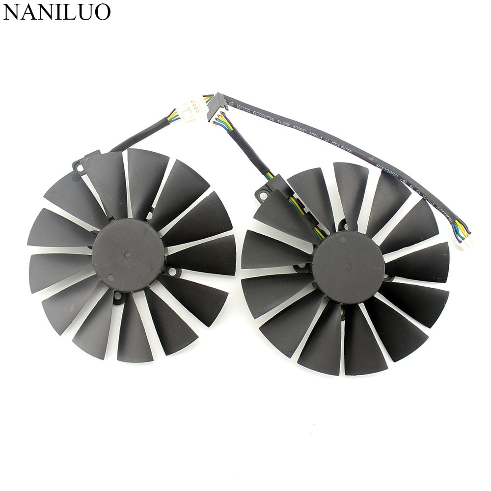 95MM  4Pin New PLD10010S12H Cooler Fan For ASUS ROG STRIX Dual RX 470 580 570 RX470 GTX 1050Ti GTX1080Ti Video Card Replacement