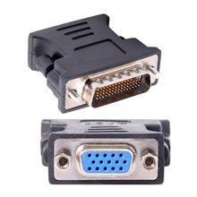 DMS-59 DMS59 59Pin DVI mâle à 1 Port VGA femelle vidéo Y séparateur câble court 1 PC à 1 moniteur