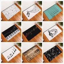 Tapis de Piano pour clavier Note de musique   Tapis en mousse à mémoire de forme, tapis de flanelle, paillasson de salle de bains, tapis propre, tapis de décoration intérieure