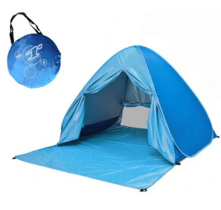 Pop Up автоматически настроить Кемпинг пляж палатка с Шторы быстро открытый UV50 +