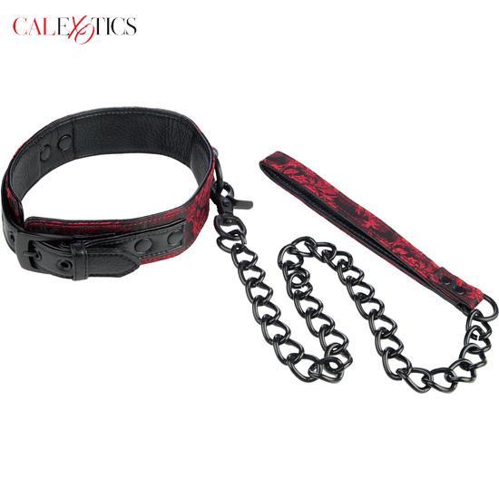 CALEXOTICS Scandal Collar Con Cadena BDSM Parejas Estimulador ENVIOS DISCRETOS