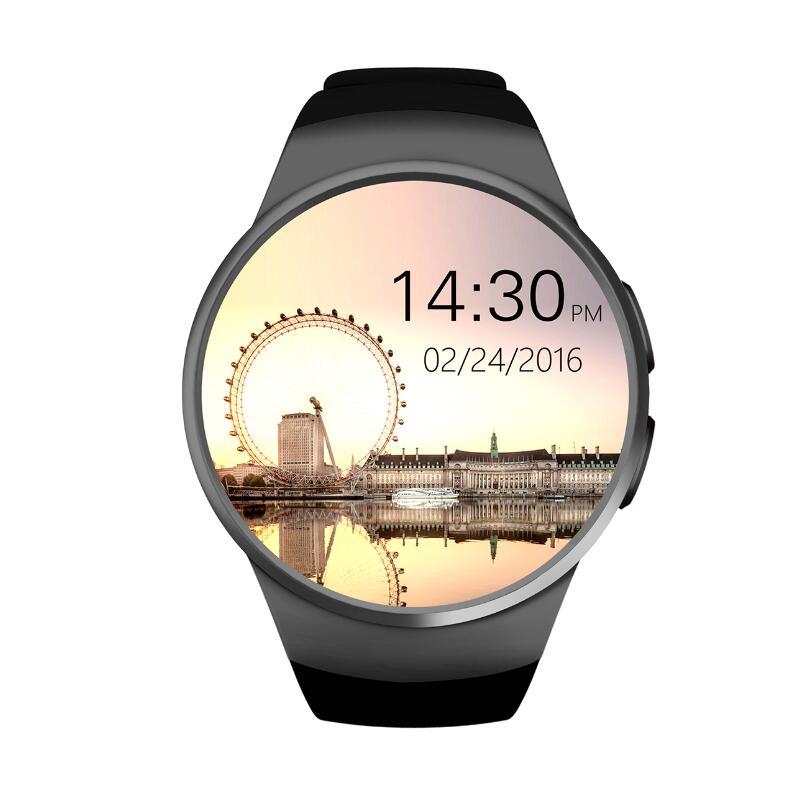 [De] KW18 Bluetooth smart watch Pantalla Completa soporte tarjeta SIM TF Smartwatch Teléfono de apple de s2 huawei xiaomi