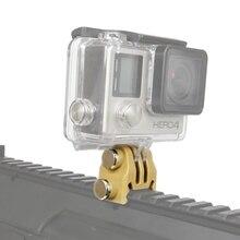 Accessoires de chasse 20mm Picatinny support de Rail de pistolet Airsoft Kit dadaptateur de pistolet pour tir daction fusil de chasse monture de caméra