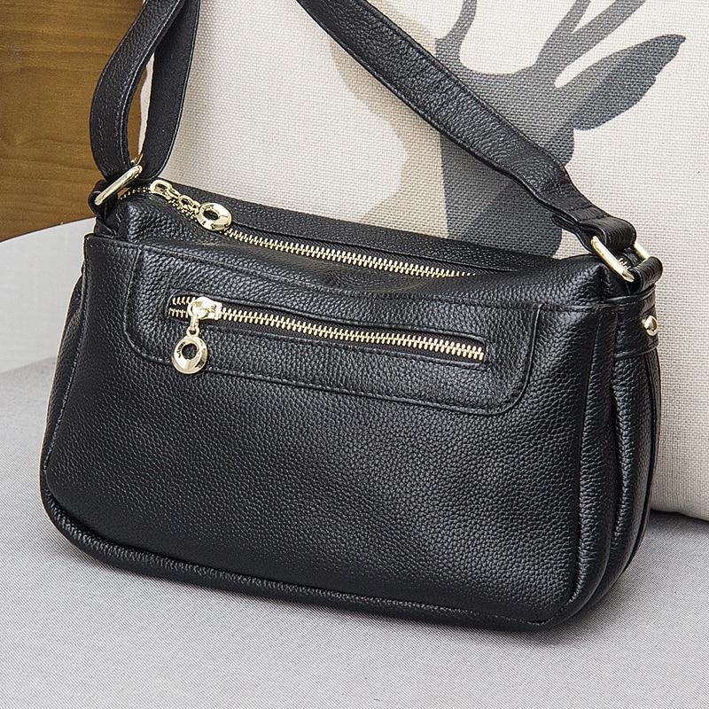 2020 Genuine Leather Messenger Bags for Women Small Crossbody Bag Female Lady Shoulder Bags Handbags bolsa feminina sac a main