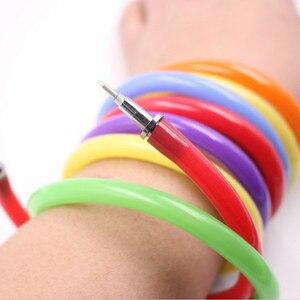 Jonvon Satone 30 Pcs Magic Wrist Bracelet Pen Cute Circle Ball Point Pen Bending Creative Stationery Student Sationary Wholesale