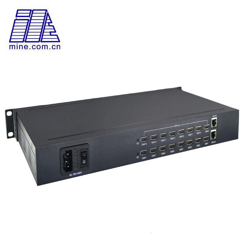E8001 MPEG-4 H264 AVC 8CH HDMI zu IP Streaming IPTV Encoder in 1U Rack max unterstützung 16CH Eingang