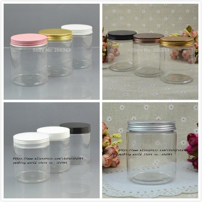 250G przezroczyste plastikowe butelki PET/słoik/garnek kilka kolorów pokrywa dla esencji/krem/maska żel /balsam/wosk kosmetyki do pielęgnacji skóry do pakowania