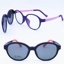 Original design 1303 ULTEM oval prescription glasses with megnatic clipping on polarized lenses hand