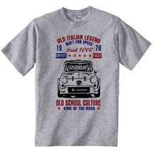 Vintage Italian Car Fiat 1000 Abarth  New Cotton T Shirt Short Sleeve Plus Size T Shirt Colour Jurney Print T Shirt Jurney