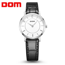 DOM 2018 mode été femmes montres de luxe marque en cuir bande dames robe Quartz montres étanche boîte-cadeau