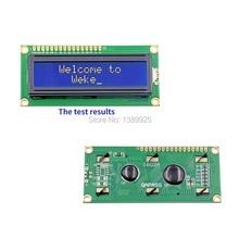 20 pcs/lot 1602 LCD (écran bleu) 5 V LCD avec rétro-éclairage de lécran LCD 51 carte dapprentissage supportant 16x2 LCD