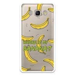 Caso estande de Banana traje WP012 de desenho para Samsung Galaxy J5 2016