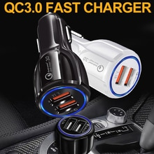 GEUMXL QC3.0 Car Charger 3.1A Dual USB Charging Qualcomm Quick Charge 3.0 Standard for Samsung Galax