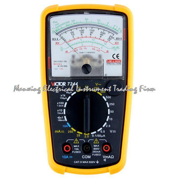 Szybka wysyłka multimetry analogowe VICTOR VC7244, multimetr mechaniczny, nowy, mierzalny prąd/rezystancja/z brzęczykiem