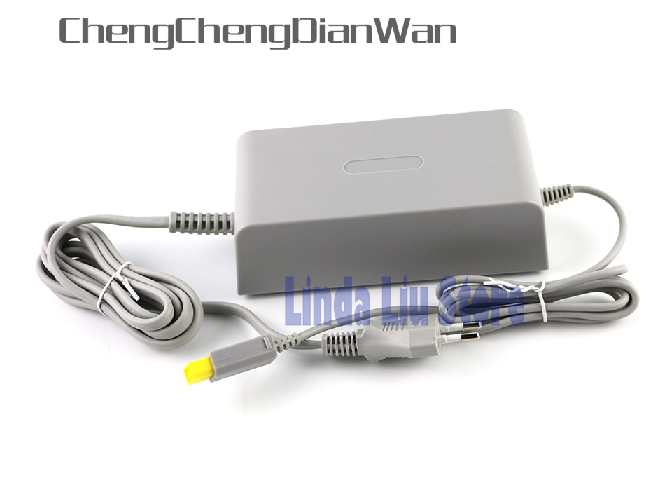 ChengChengDianWan enchufe de la UE casa toma de corriente de pared de suministro de adaptador de cargador de CA de Cable para Nintendo Wii U WiiU consola de 100-240V DC 15V 5A