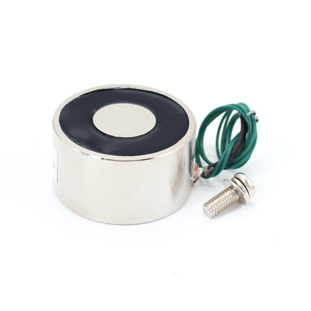 50*27mm Suction 50KG 500N DC 5V/12V/24V Mini solenoid electromagnet electric Lifting electro magnet strong holder cup DIY 12 v