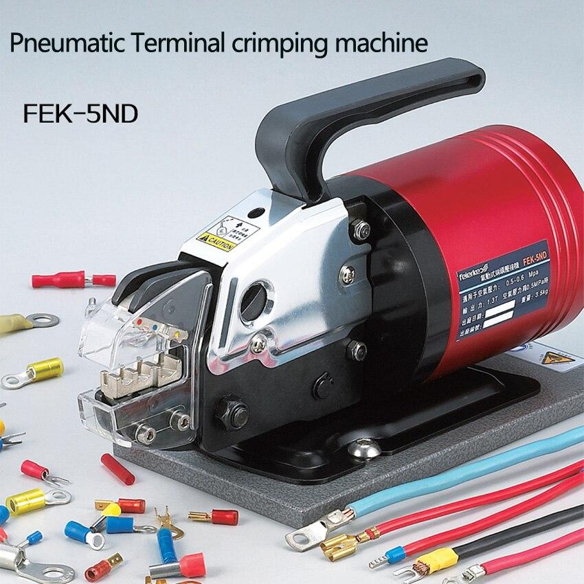Alicate de friso pneumático linha de pressão semiautomática braçadeira terminal máquina de friso dando regulador de pressão de ar