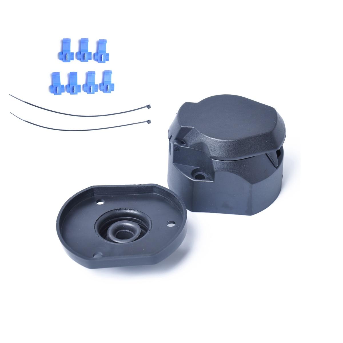 Прочный 12V 7 Pin пластиковый Европейский прицеп розетка буксировочная панель электрика Соединитель с резиновым кольцом A35
