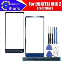 OUKITEL MIX 2 Front Glass Screen Lens 100% Original Front Touch Screen Glass Outer Lens for OUKITEL MIX 2 + Tools + Adhesive