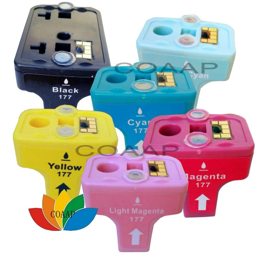 6 совместимых чернильные картриджи для принтеров HP 177 XL Photo Smart D7145 D7155 D7160 D7163 D7345 D7355 D7360 D7363
