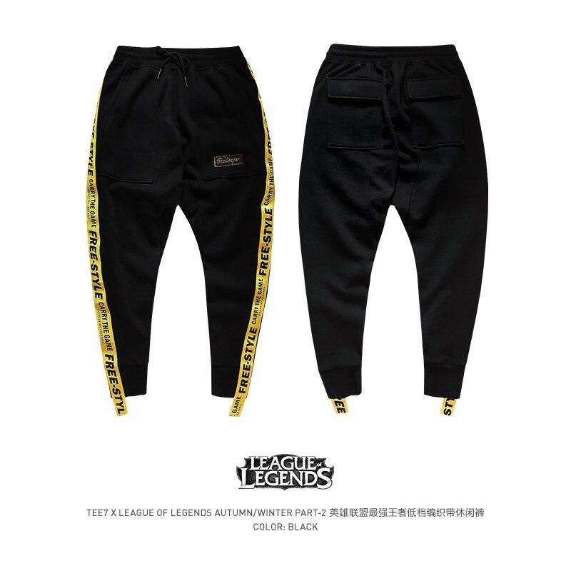 Tee7 Для мужчин хлопок оседлать Штаны GameLOL хип-хоп кросс-Штаны Мужской Micro-эластичные Брендовые брюки качество верхняя одежда