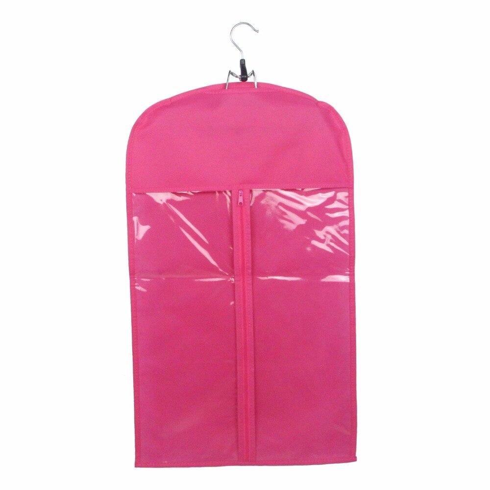 100 piezas de soporte de extensión de cabello Rosa negro Almacenamiento de extensión de cabello bolsa y colgador de peluca con logotipo personalizado