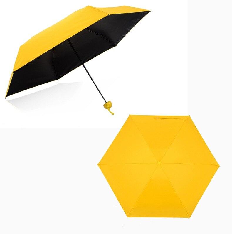 50 pcs Cápsula Criativo Parasol Umbrella Proteção UV Guarda-chuva Dobrável de Bolso Senhora Ensolarado e Chuvoso Guarda-chuva wen5987